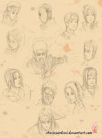 Sketch: NARUTO chronicle by sharingandevil