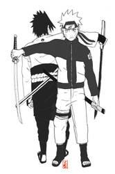 naruto and sasuke by sharingandevil