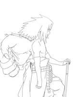 sasuke cs2 lineart by sharingandevil