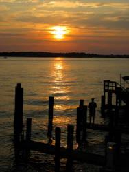 OCM sunset over the bay by Tiller630