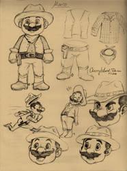 Mario Cowboy Studies - Sketch#2 by CherryIsland