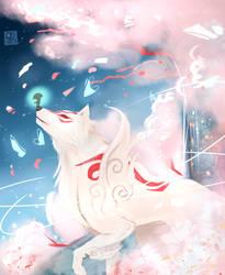 Okami Amaterasu by artofreines