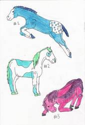 Horse Adoptables by LoveWildHorses