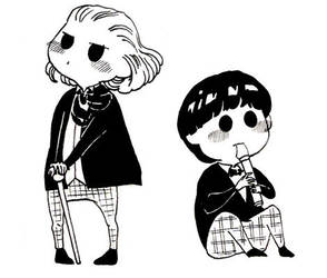 1st and 2nd Doctors' chibis by orookayasu