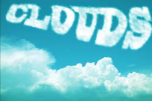 Photoshop CS6: Cloud Text Effect by mankut31