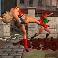 Knockout vs Ultra Woman, pt. 1 by Mr-Hypnotyk