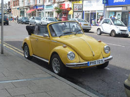 open top yellow beetle by awjay