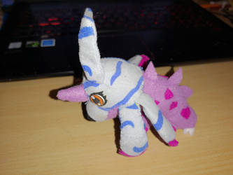 Gabumon and nidorino fusion plush by cargirl9