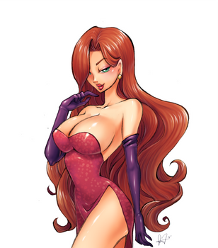 Jessica Rabbit by shikami