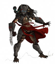 Yautja female in color by DELTA122