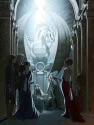 At the dark elves court by Vyrhelle-comm