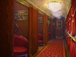 Train inside by Alvor