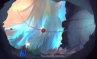 The Secret Cavern by Stratox