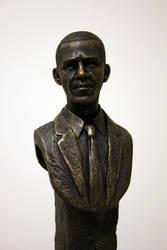 Barack Obama - bust by schellstudio
