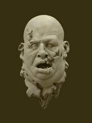 Fat Zombie Head by schellstudio