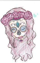 Sugar Skull Colored by DevinRose13
