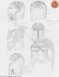 Medieval Helmets by ElderlyCartographer