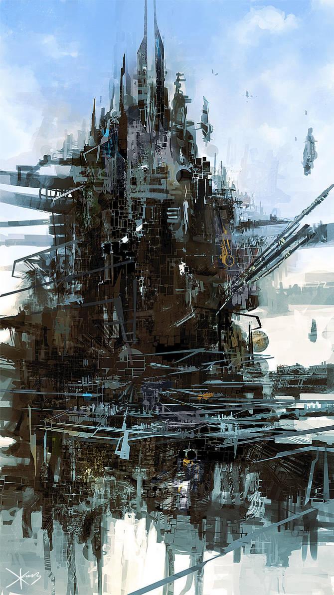 Rig City [speedpainting] by zilekondic