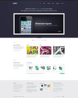 OPEC - Website design by ejsing