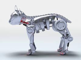 Terminator Cat Sideon by distortion-00