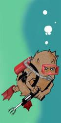 Diver Kiwi by L1qw1d