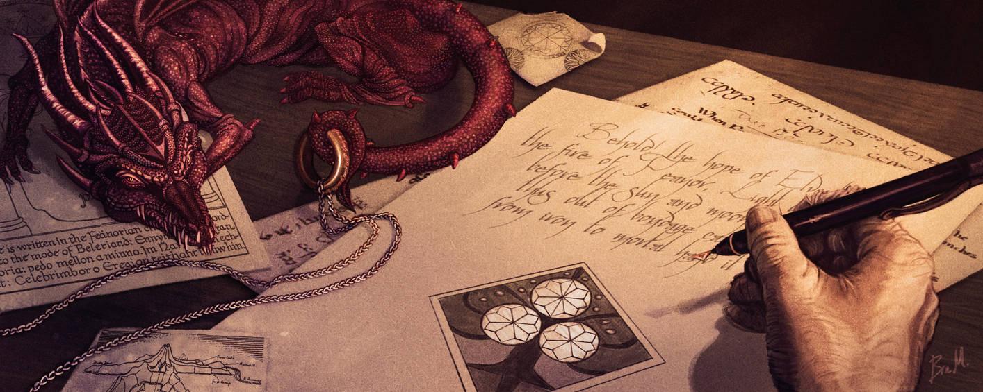 Tolkien's Desk by 89ravenclaw