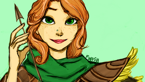 Disneyfied drawing of Windrunner (Colored) by Viperys