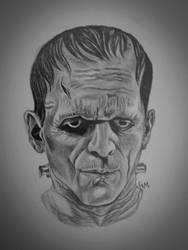 Frankenstein's Monster, pencil- age 23 by GabbityGabby