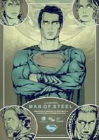 Man of Steel alternative movie poster art by harijz