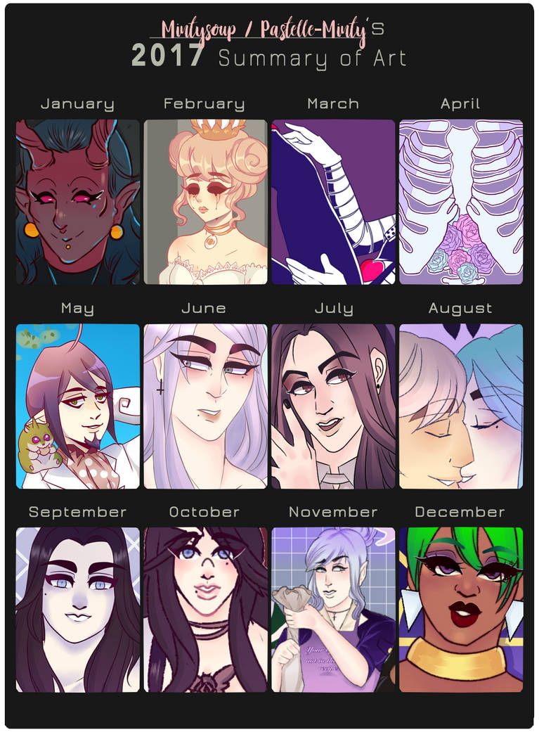 2017 Art Summary by mintysoup