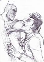 batman vs joker by michelebandini