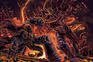 Guilleman vs Fulgrim by artrobot9000