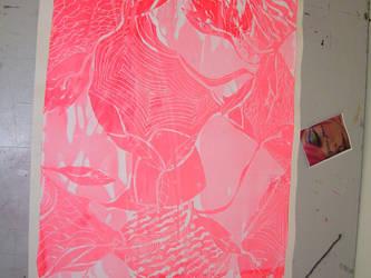 Innuendo white on neon pink by Sigmoonda
