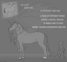 Horse lineart |Kladruber |OPEN by Fayrein