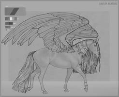 Horse lineart |2| OPEN by Fayrein