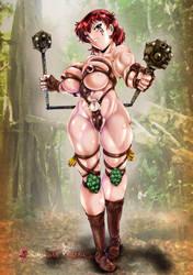 Barbarian chan by shimokatakouzou