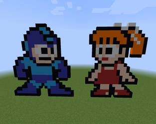 MC Pixel Art: Rock and Roll (Mega Man) by CloneClox9999