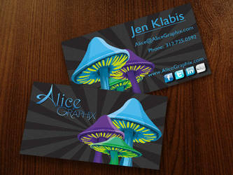 Alice Graphix Business Cards by AliceGraphix