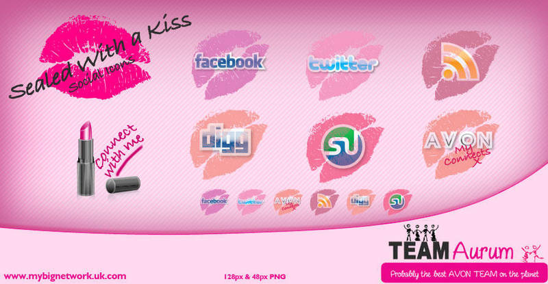 Sealed With A Kiss Icons by AliceGraphix