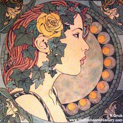 Art Nouveau Ivy Portrait by enchantedgal