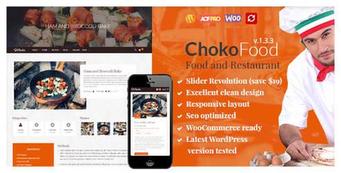 ChokoFood - Food and Restaurant WordPress Theme by Pistaciatheme