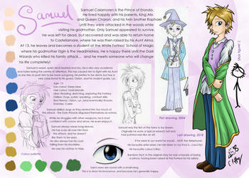Samuel - Character sheet by erondagirl