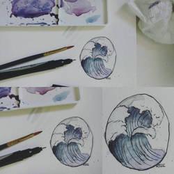 Smol Watercolor Wave by KqKangaroo