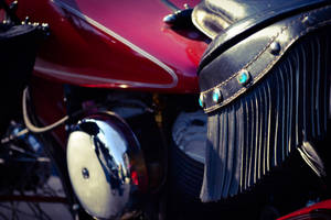 Motorcycle seat Fringe by chelsipeters