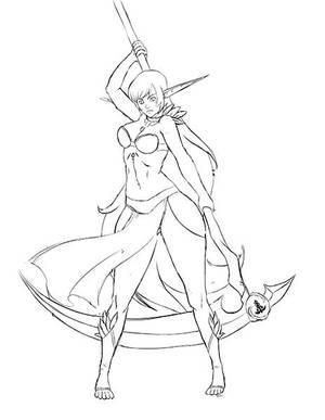 Sketch Fullbody by exaelart