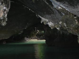 hidden lagoon by meihua-stock