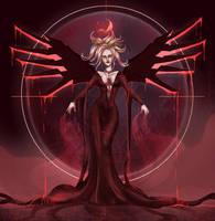Dark Overwatch #1 - Blood Moon Mercy. by ArtwithKA