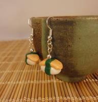 Tamago earrings by Koreena