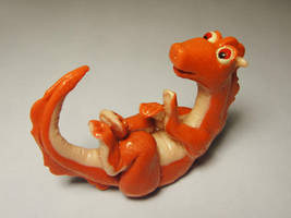 Cute pink belly dragon by Koreena