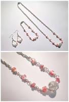 Pink and white set by Koreena